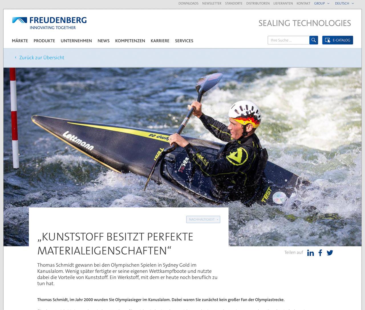 Kanu-Olympiasieger Thomas Schmidt für Freudenberg.