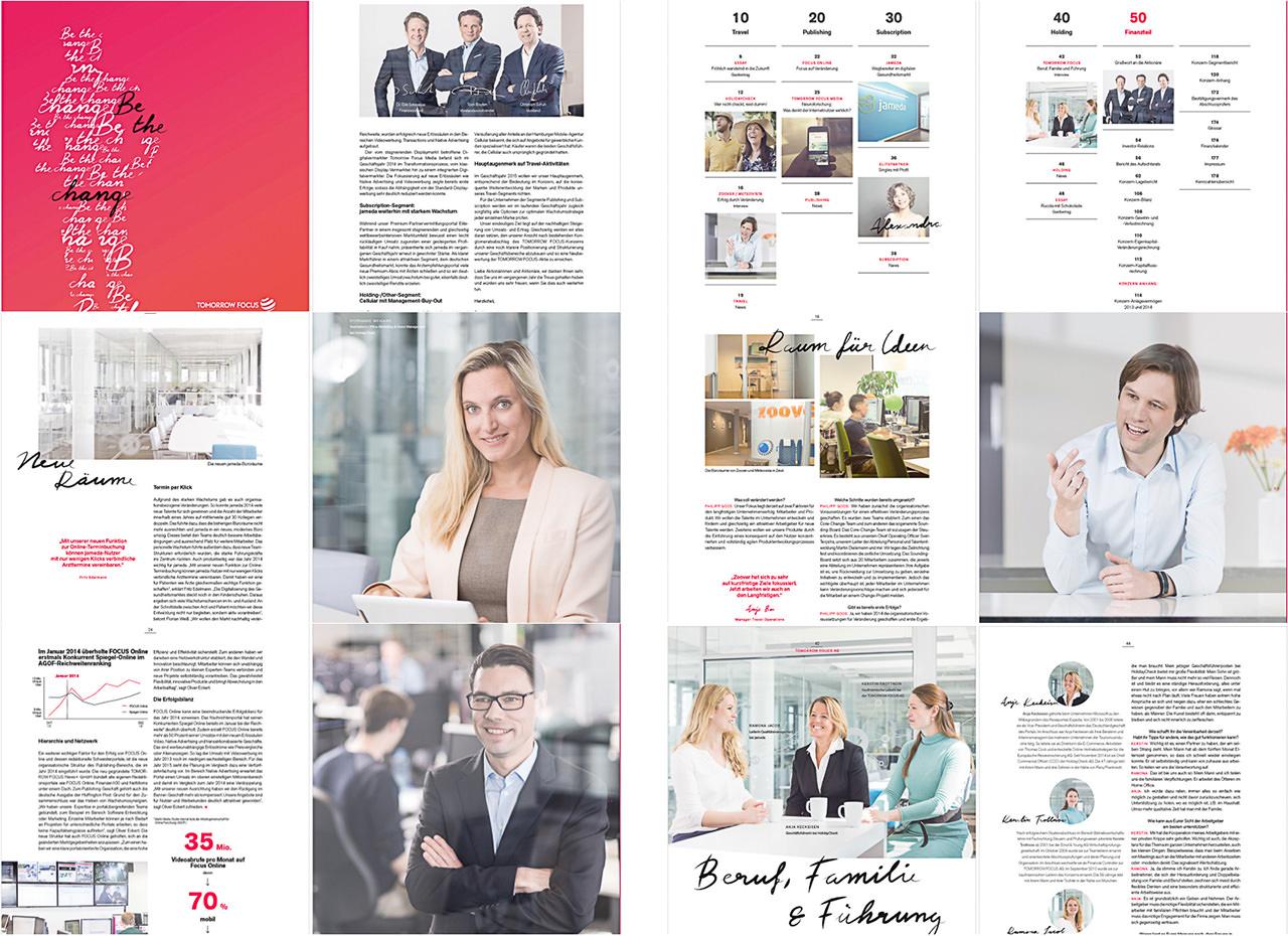 Fotoproduktion für den Geschäftsbericht der Tomorrow Focus AG